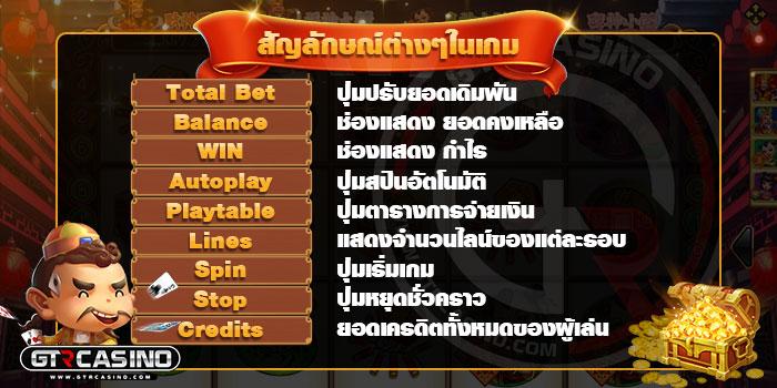 สัญลักษณ์ต่าง ๆ ในเกม Lucky God